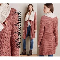 "ANTHROPOLOGIE Lilitz cardigan sweater size M ANTHROPOLOGIE Lilitz Cardigan by Knitted & Knotted. Size Medium . Cotton, Acrylic, yak wool. Collar: Acrylic, Wool, Alpaca. Regular 31"". Attached Collar. Open Front Anthropologie Sweaters Cardigans"