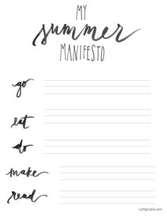 printable summer to-do lists (before it flies by) — Ruth Clark