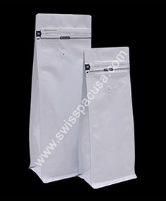 We manufacture our #12oz / 340g #SHINYWHITE #FLAT_BLOCKBOTTOMBAGS #WITHTEARZIPPER #WITHVALVE by utilizing various plastic films, so our pouches are highly durable in nature.