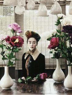 Lee Hye Jung, Lee Hyun Yi, Song Kyung Ah Park Sera for Vogue Korea August 2013