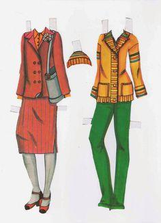 Paper Dolls: Decade of 70 - Costume Fashion