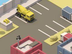 Isometric Parking Lot by Alex Safayan