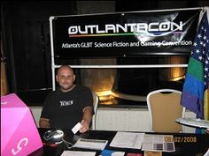 The Outlantacon table. This was how I met them - Kiernan Kelly and I ended up being guests at their first convention the following year.