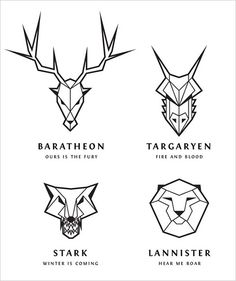 Game of Thrones Inspired Line Art Logos in Illustrator Game of Thrones Inspired Line Art Logos in Illustrator,Logos designs I've been having some fun lately creating logo emblems in an abstract design style based. Game Of Thrones Tattoo, Tatouage Game Of Thrones, Dessin Game Of Thrones, Arte Game Of Thrones, Game Of Thrones Drawings, Game Thrones, Chanel Logo, Logo Lion, Illustrator Tutorials For Beginners