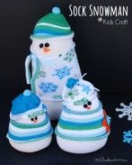 Your kids will love making these cute and easy Sock Snowmen!