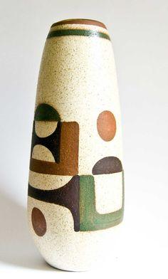 Anonymous; Glazed Stoneware Vase by Lapid, 1960s.