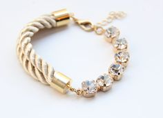 Rope and clear bracelet