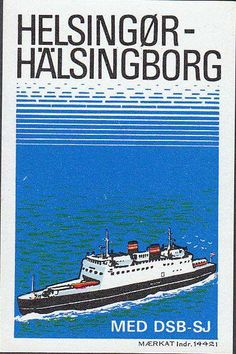 Reklame-mærkat for HH-overfarten (DSB og SJ)