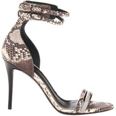 Giuseppe Zanotti Spring 2014 Snake-Embossed Leather Sandals - Buy Online - Designer Sandals