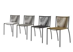 Stressa Dining chair new for 2014. Seat and back strung in PP cord. This stackaable chair is design by Dider Gomez.