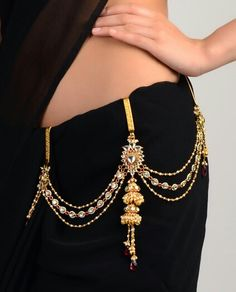 Latest Designer Waist Chain Indian Jewelry - Health care, beauty tips. Indian Attire, Indian Wear, Indian Style, Indian Accessories, Fashion Accessories, Saree With Belt, Saree Belt, Indian Dresses, Indian Outfits