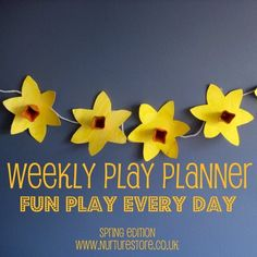 A weekly Play Planner, full of fun, learning activities for everyday of the week. Sign up for your own copy.