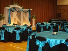 Aqua And Black Wedding Theme | Adore Your Decor: Openhouse at an LDS Cultural Hall in Sandy