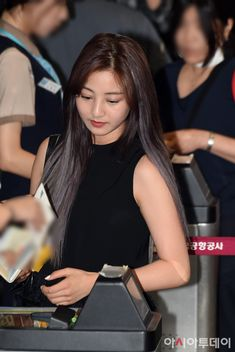 Jihyo leaving through Gimpo International Airport after TWICELAND ZONE 2 (Fantasy Park IN JAPAN) tour, which is held in Japan.