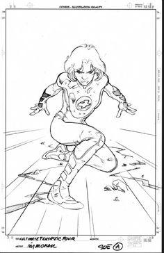Stuart Immonen Invisible Woman Cover Comic Art