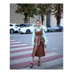 Кожаный сарафан коричневый.  Выкройка Бурда №112 9/2017 + смоделировать разрезы +мастер-класс Ирины Вард.