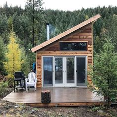 Cheap Tiny House Design For Families Idaho, Cheap Tiny House, Tiny House On Wheels, Prefab Homes, Log Homes, Tiny Homes, Tiny House Australia, Cabin In The Woods, Industrial Interior Design