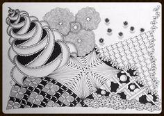 CoFoNo - Zentangle Inspired Art - ZIA - Galerie Zentangle patterns: Punzel, Facade, Cadent, Luv-A, Festune, Miasma, Betweed, Axlexa, Koosh