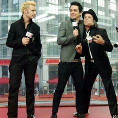Mike Dirnt, Billie Joe and Tre Cool