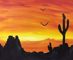 Desert - Paint Nite Painting
