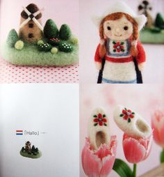 small needle-felted items - japanese craft