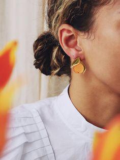 Round Earrings Boho Earrings Funky Earrings Mothers Day Gift 24k Gold Plated Hoop Earrings with White Resin