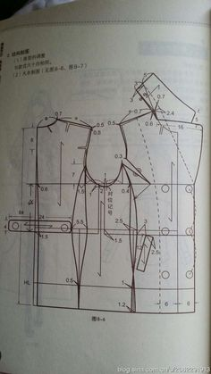 Best 12 jackets (Chinese method of pattern making) – modelist kitapları – SkillOfKing. Easy Sewing Patterns, Coat Patterns, Sewing Tutorials, Clothing Patterns, Suit Pattern, Collar Pattern, Jacket Pattern, Aya Couture, Pattern Draping