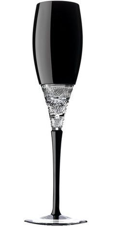 John Rocha at Waterford Muse Eris Cased Black Flute (Noir & blanc) (BB)~