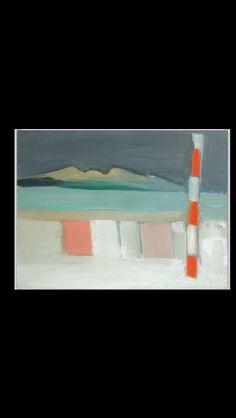 """Nicolas De Staël - """"Plage de Calais"""", VII 1954 - Huile sur toile - 46 x 61 cm (*)"""