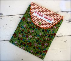 Retro 70's Floral and Chevron iPad case Snap by FreeRoseStudio, $25.00