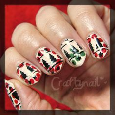 Dotted and stamped !  holiday nails by Craftynail using MoYou Festive 03 plate