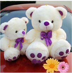 lovely teddy bear toy purple bow plush high quality bear toy gift doll about 40cm //Price: $US $18.89 & FREE Shipping // #clknetwork