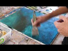 Abstract Painting Techniques - Démonstration peinture abstraite (19) - Althea BJart's - YouTube