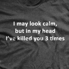 I've Killed You 3 Time T-Shirt- Ranger Up Military Gray Tee Shirt