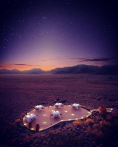 """""""The only true voyage of discovery the only fountain of Eternal Youth would be not to visit strange lands but to possess other eyes to behold the universe through the eyes of another of a hundred others to behold the hundred universes that each of them beholds that each of them is.."""" Marcel Proust. Dinner under a star lit sky at Sossusvlei  Desert Lodge Namibia.  #itsagoodoffice #steviemannphotography http://www.steviemann.com #marketing #googlesearch  #webtraffic #optimization #content #seo…"""