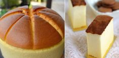 Gentle, airy like a sponge, cotton Japanese cheesecake - a lush, slightly trembling cake with creamy taste. Japanese Cake, Japanese Cheesecake, Biscuit Cake, Romanian Food, Russian Recipes, Kefir, Something Sweet, Greek Recipes, Bakery