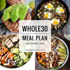 A Whole30 meal plan that'll get you back on track! Easy, healthy & delicious meals (breakfast, lunch & dinner included) Perfect way to start January Whole30