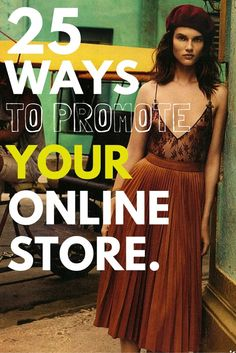 From working online influencers, to content marketing. Discover 25 actionable, affordable ways to promote your online store in 2016 (and beyond! Marketing Tactics, Marketing Strategies, Content Marketing, Boutique Camping, Starting An Online Boutique, Online Clothing Boutiques, Pinterest Marketing, Business Fashion, Fashion Brand