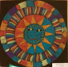aztec suns...   Art Projects from MN Art Gal Great for teaching pattern.