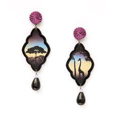 Arte Safari Decò earrings – Giraffe