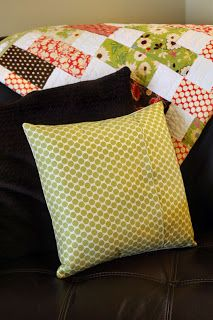 How To Make A Pillow Sham or Cover {sewing pattern}