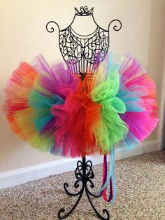 Neon Rainbow Fluffy Tutu by FantsiePantsieTutus on Etsy, $32.00