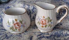Sucrier et pot a crème Sadler - 50 % Pots, Sugar Bowl, Bowl Set, Collections, Jar, Handmade Gifts, Unique Jewelry, Cookware, Jars