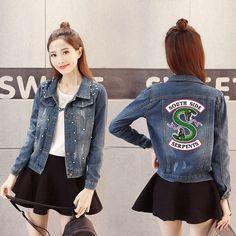 2018 Spring Women Denim Jacket Plus Size S-4XL Vintage Cropped Short Denim  Coat Long-Sleeve Jeans Coat Cardigan Light Deep Blue  1268719aba00