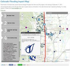 #Colorado #flooding impact interactive map #Esri