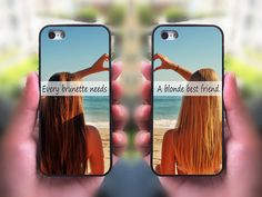 Click To Buy It!!! Every Brunette Need A Blonde Best Friend Cell Phone Case for iPhone and Samsung,Two Differrent Models Mixed OK