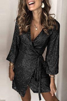 Details: Material:Polyester Style:Sexy Mini Dress Sleeve Length:Long Sleeve Neckline:V-Neck Length:Mini Pattern Type:Sequin Season:All Color:Gold Size:S,M,L,XL Source by Dresses Elegant Dresses, Sexy Dresses, Casual Dresses, Short Dresses, Fashion Dresses, Dresses For Work, Wrap Dresses, Summer Dresses, Formal Dresses