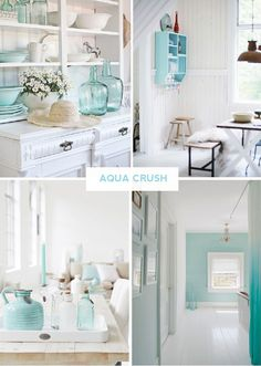 Vintage Love Reconnect with your inner artist and add a splash of aqua to your beach ho...