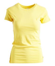 Pima Apparel Yellow Crewneck Tee - Women | Zulily