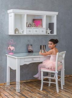 שולחן כתיבה וכוורת מעץ מלא לחדר ילדים דגם וינטאג' - האוס אין HouseIn